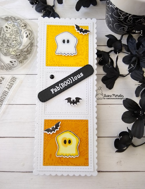 Fab(boo)lous by Diane features Spooky Roundabout, Newton's Costume Party, Count Newton, Slimline Frames & Portholes, and Slimline Frames & Windows by Newton's Nook Designs; #inkypaws, #newtonsnook, #cardmaking, #halloweencards