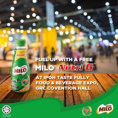 FREE MILO Nutri G Bottle Taste Fully Food Beverage Expo Malaysia