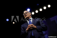 U.S. 2020 Democratic presidential candidate and Governor Jay Inslee participates in a moderated discussion at the We the People Summit in Washington, U.S., April 1, 2019. (Credit: Reuters/Carlos Barria) Click to Enlarge.