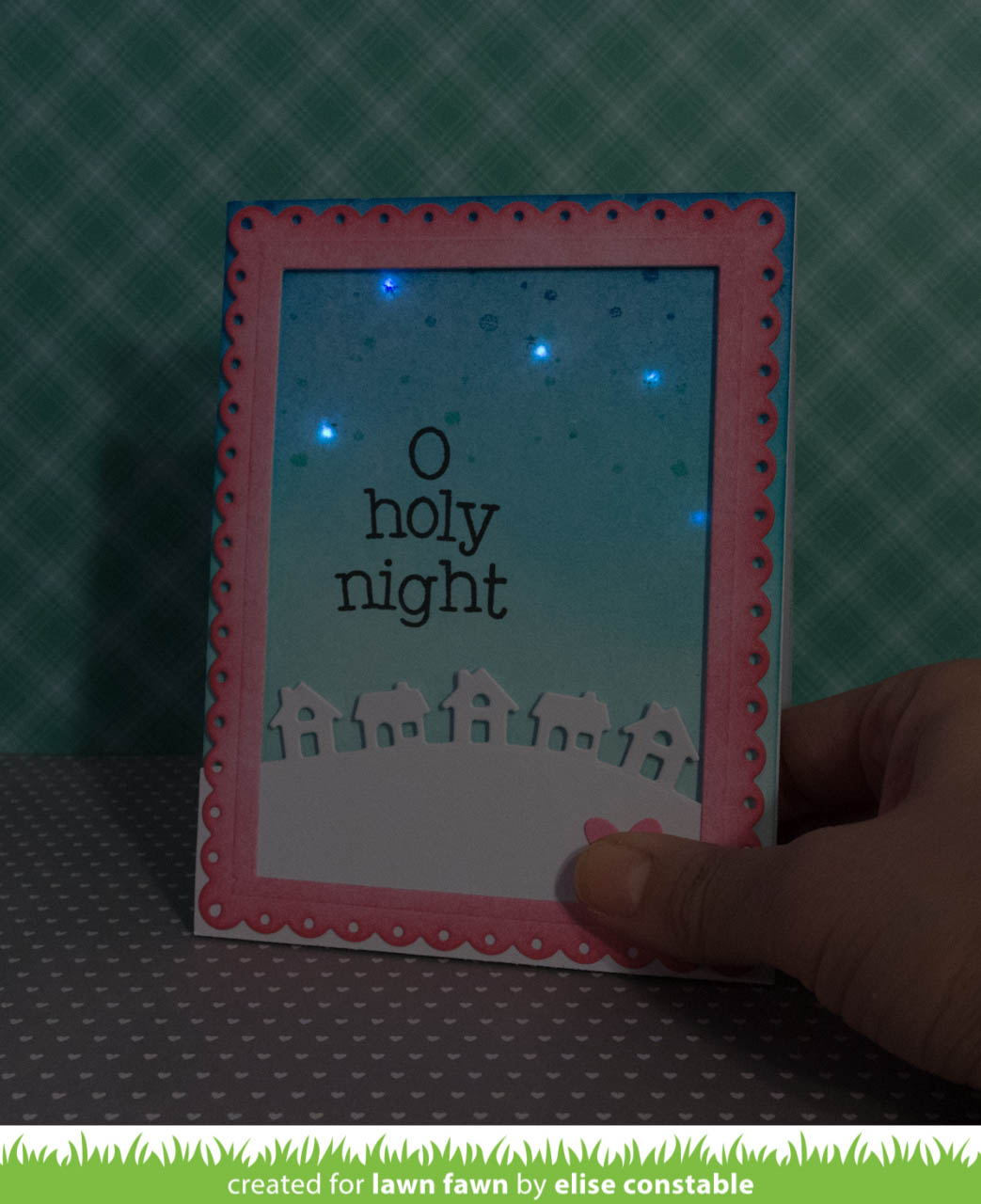 A Fun Collaboration With Chibitronics Day One The Lawn Fawn Blog Second Circuit Set I Purchased Was Sticker Elise Created Beautifully Simple Little Town Border Design Fabulous Starry Sky You May Notice Sneak Peek Of Fancy New Die Coming In Our