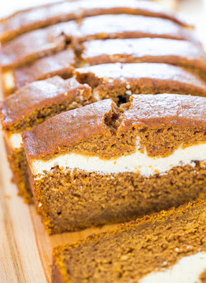 Cream-cheese-filled pumpkin bread