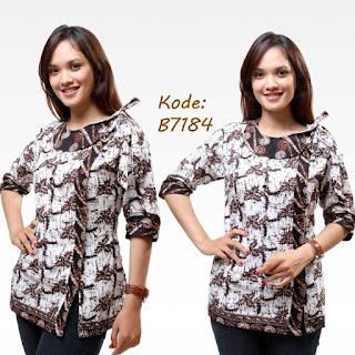 Baju Batik Kerja Wanita Modern Elegan