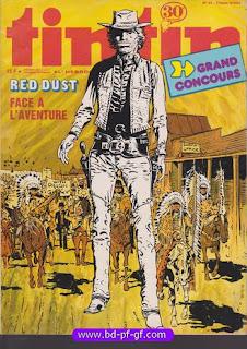Tintin numéro 44, 1976, Red Dust