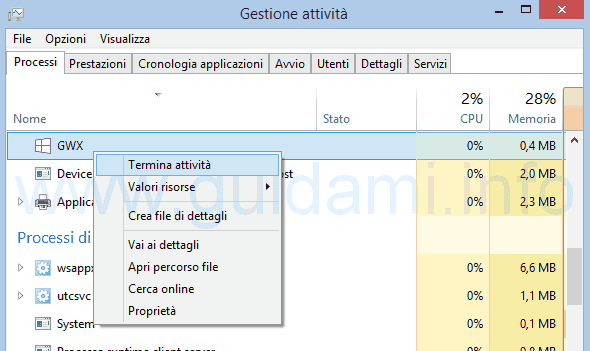 Terminare notifica Ottieni Windows 10