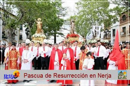 El Domingo de Resurrección procesión de Jesús Resucitado y Mª Santísima de la Asunción