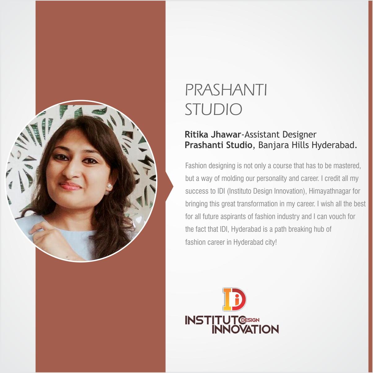 Ritika Jhawar Assistant Designer