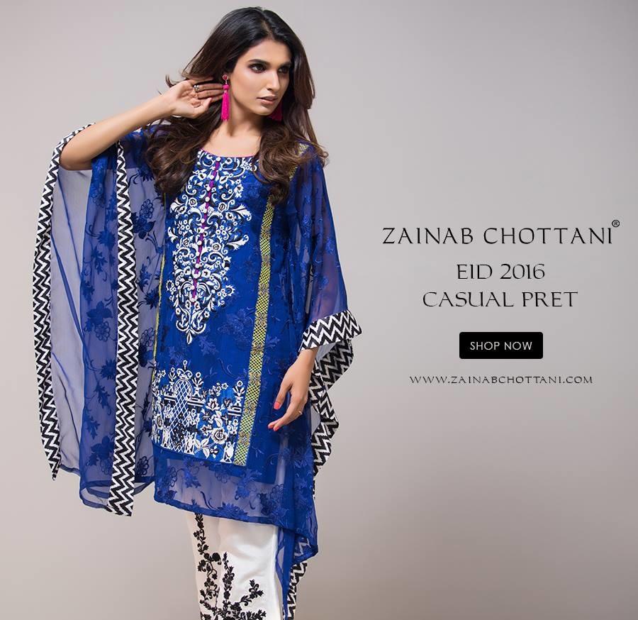 Latest Zainab Chottani Eid Pret Collection 2016