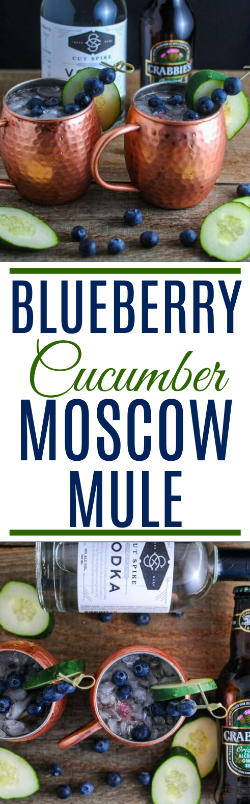 Blueberry Cucumber Moscow Mule #drinks #alcohol #refreshing #summer #beverages