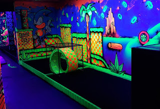 One of the holes at Ghetto Golf at Hoults Yard in Byker, Newcastle upon Tyne