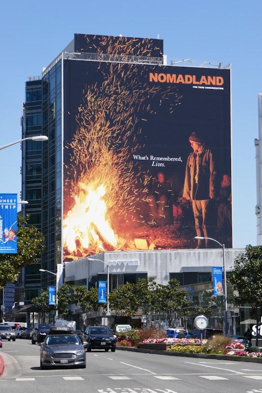 Giant Nomadland Oscar nominee billboard