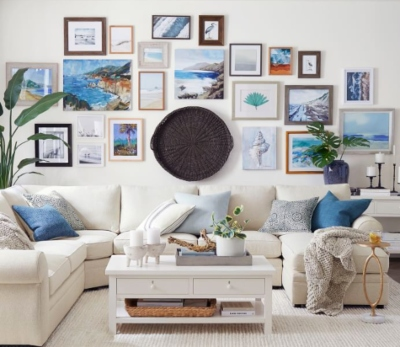 Large Coastal Gallery Wall Idea from Pottery Barn