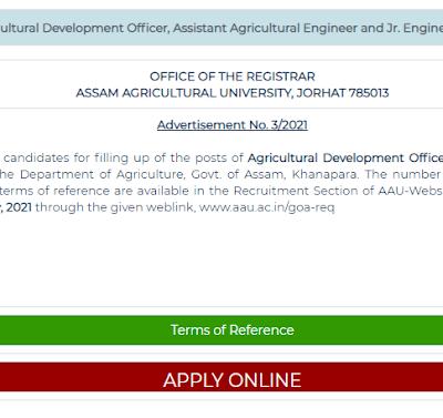 Important Web-Links of Assam Agriculture Department Recruitment