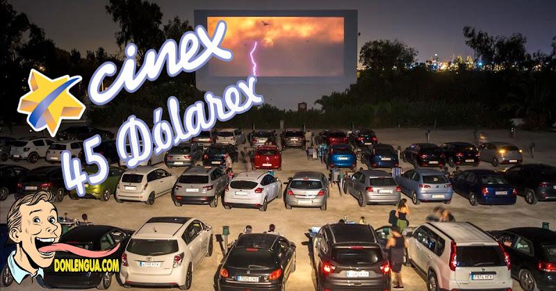 CINEX abre Auto-Cines en Caracas y cobra 45 dólares por la entrada