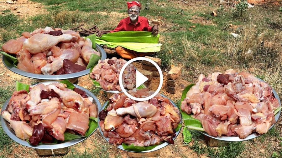 Arcot chicken Biryani prepared by my daddy Arumugam / Village food factory