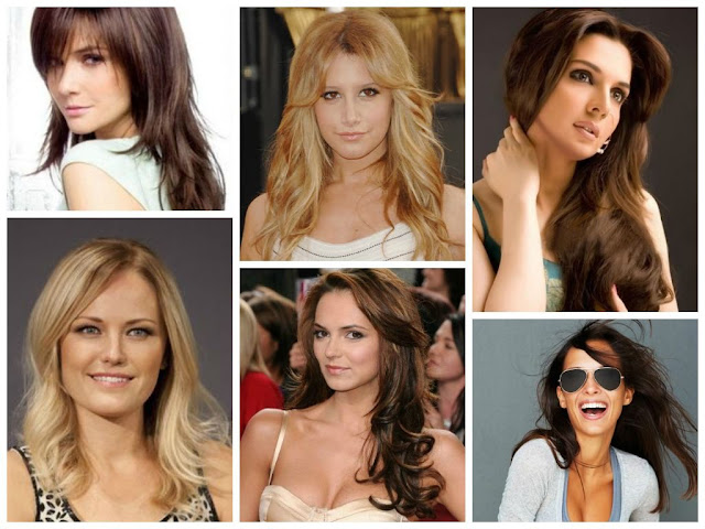 The Elegant hairstyles for long foreheads regarding Warm