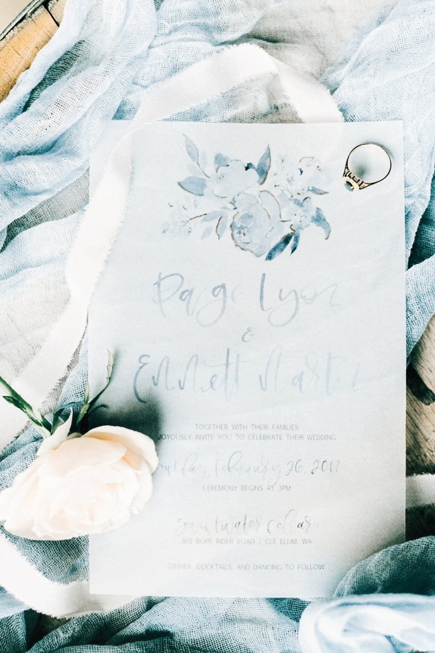 Invitation Suite Photographed on Film by Something Minted at Swiftwater Cellars