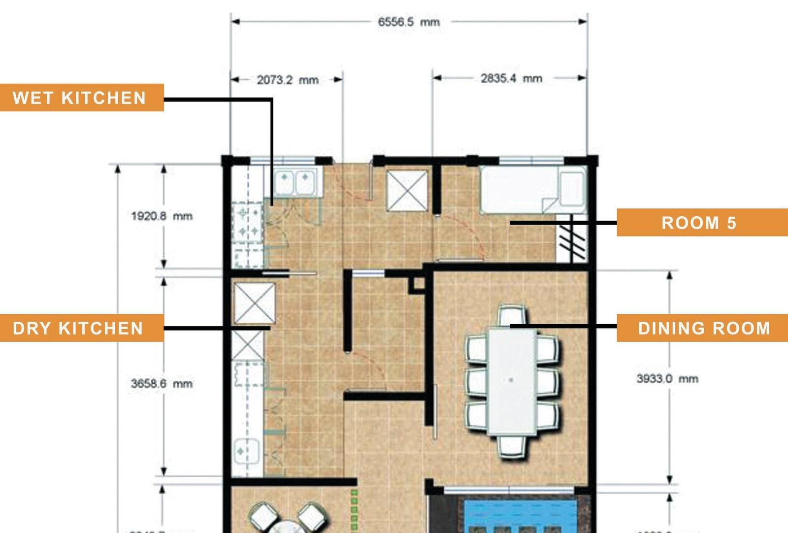 Ruang Dapur Basah Dan Kering