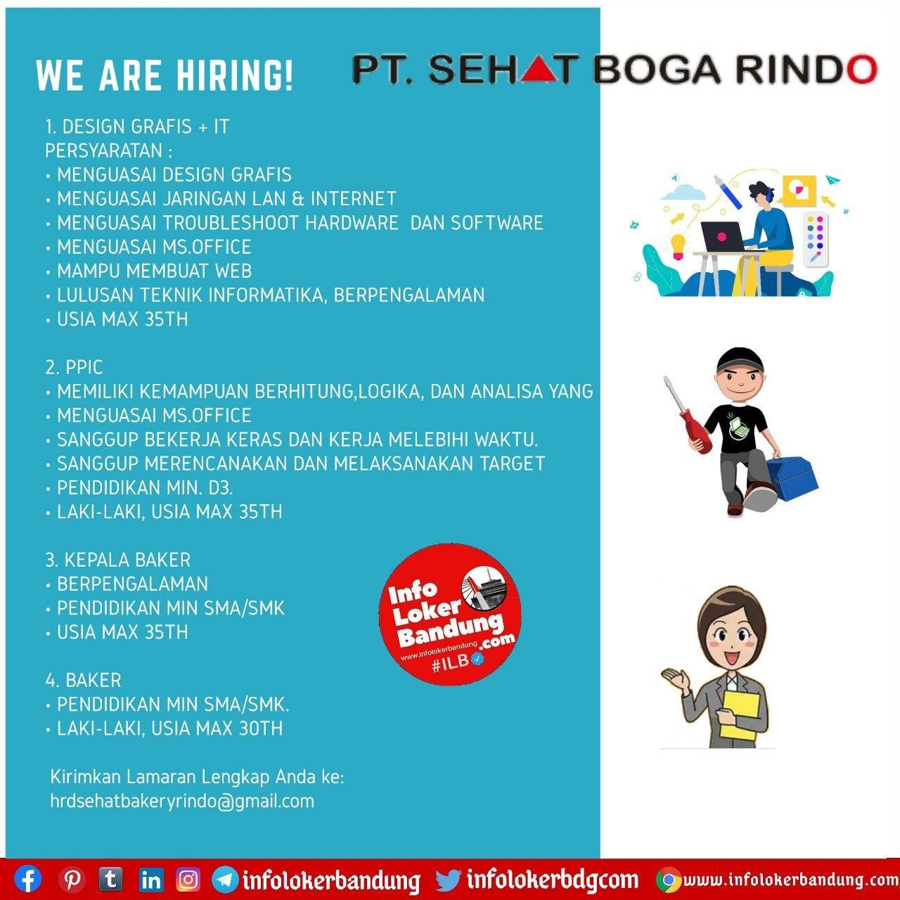 Lowongan Kerja PT. Sehat Boga Rindo Bandung Oktober 2020