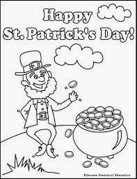 early play templates: St Patrick's Day coloring sheets