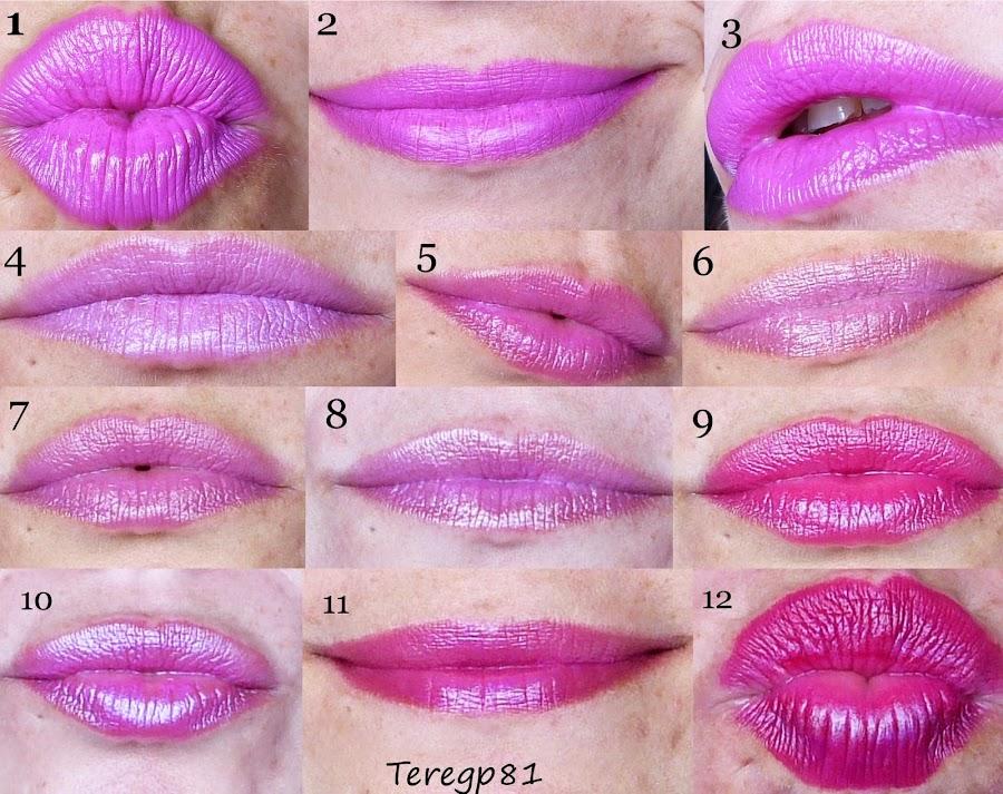 12 labiales rosas