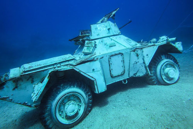 underwater military museum off the Red Sea, Jordan