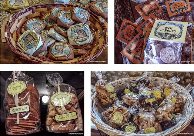 Biscoitos típicos da Toscana em Lucca