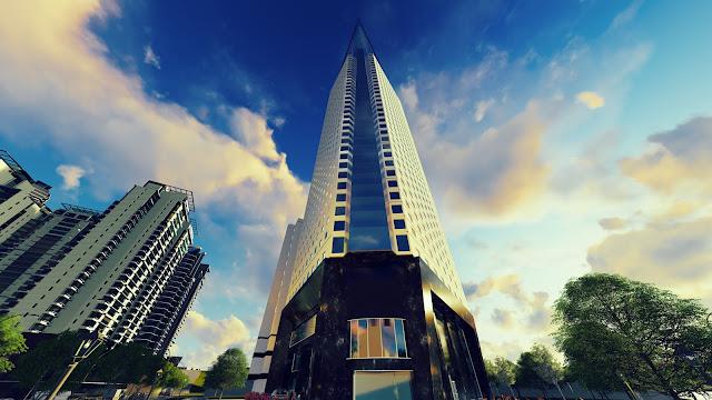 Phối cảnh một góc nhìn Tháp doanh Nhân Hà Đông