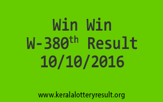 Win Win W 380 Lottery Results 10-10-2016