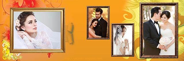 Wedding Photo Album Design 12x36 PSD for Photoshop Free Download