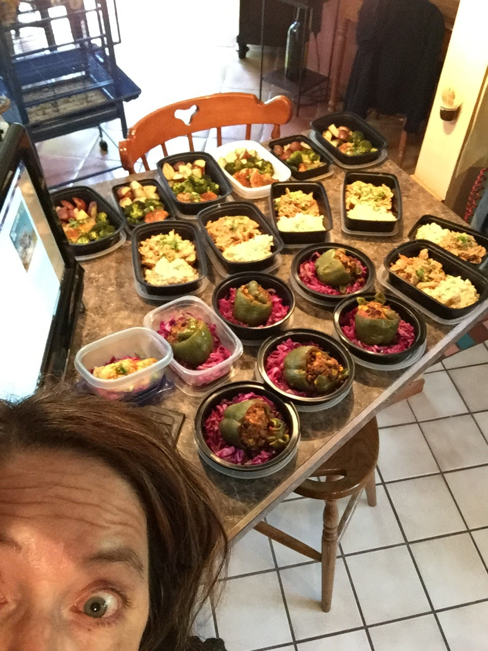 susie 39 s paleo ish life meal prep day stuffed peppers over sauteed red cabbage shredded. Black Bedroom Furniture Sets. Home Design Ideas