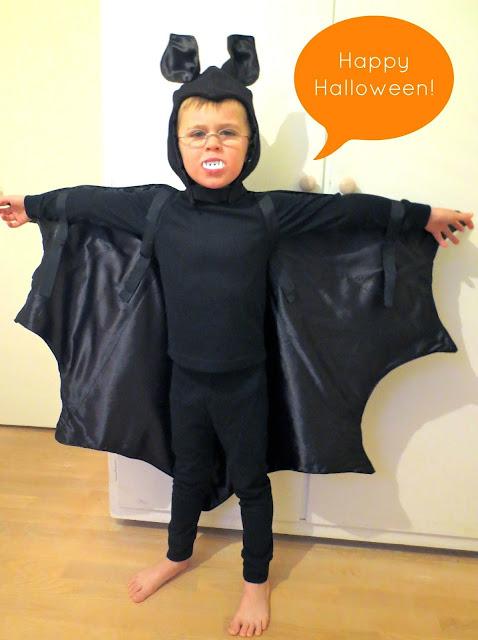 disfraz de murciélago para una fiesta de Halloween