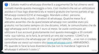truffe bufale whatsapp