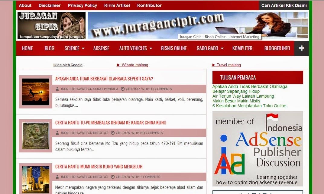 Ada apa dengan blog juragancipir.com ?