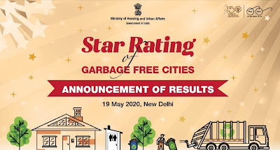 6 Cities rated 5 Star, 65 Cities rated 3 Star and 70 Cities rated 1 Star rating of garbage free cities Highlights with Details