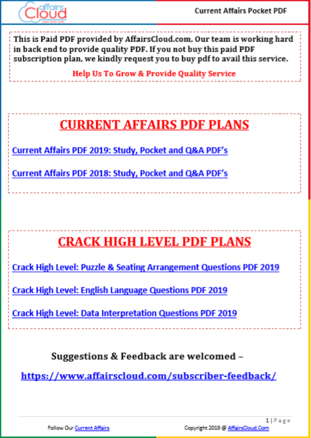 Affairs-Cloud-Current-Affairs-October-2019-For-All-Competitive-Exam-PDF-Book