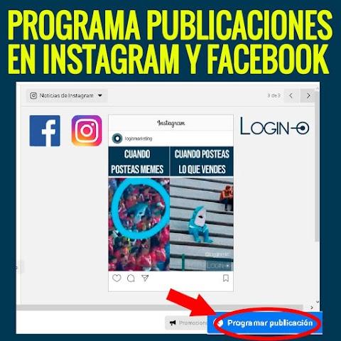 Cómo programar publicaciones en Instagram y Facebook - 2021 - VIDEO