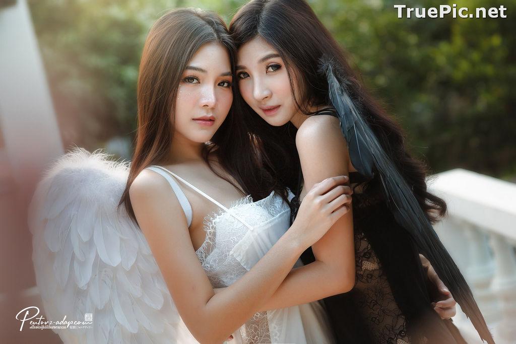 Image Thailand Model - Phitchamol Srijantanet and Pattamaporn Keawkum - Angel and Demon - TruePic.net - Picture-3