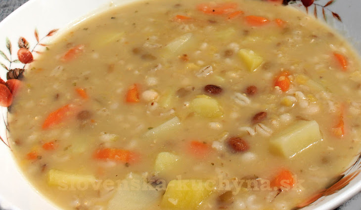 Jednoduchá krúpková polievka
