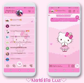 Hello Kitty Princeza Theme For YOWhatsApp & Fouad WhatsApp By Natalia Luz