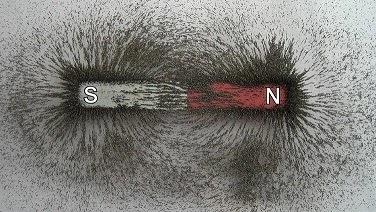 percobaan serbuk besi magnet