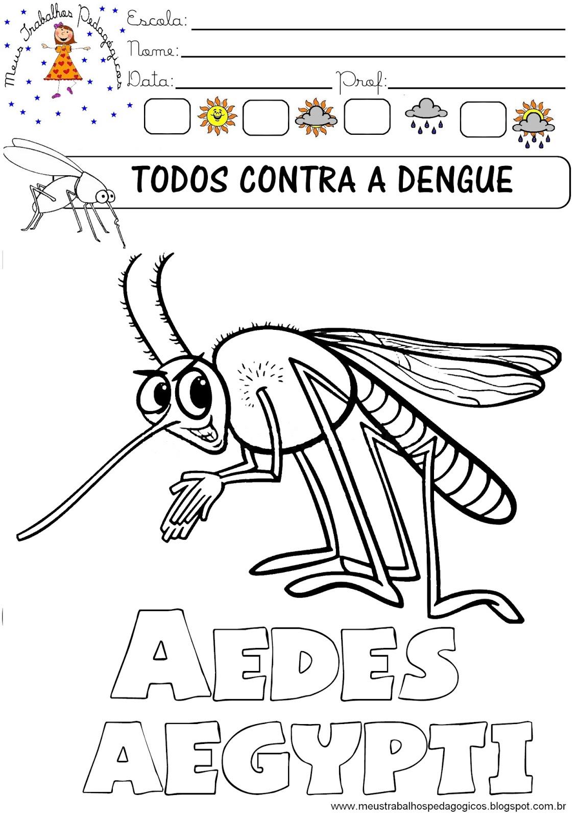 Desenhos Da Dengue Para Colorir