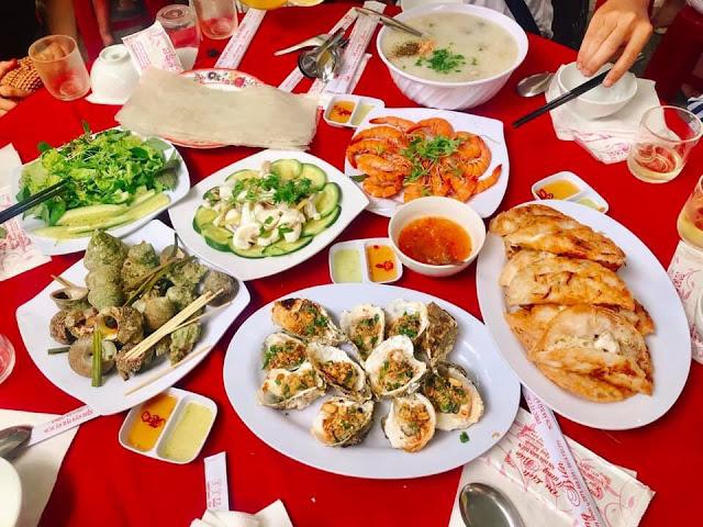 ăn trưa hải sản