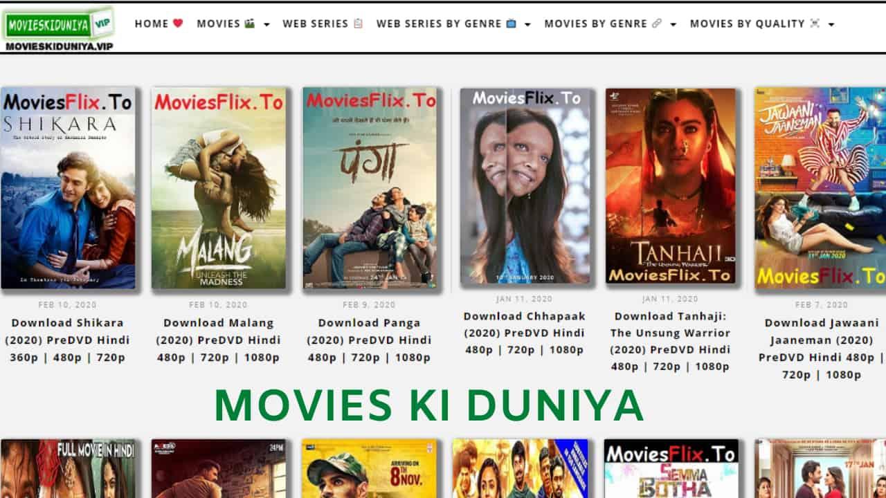 Movies Ki Duniya Bollywood, Hollywood Dual Audio HD Movies Download