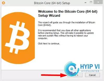 Cài đặt bitcoin core