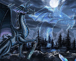 dragon wallpapers abstract fantasy anime background moon desktop 3d windows bluedragon wallpapersafari