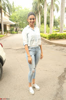Rakul Preet Singh in Jeans and White Shirt At Jaya Janaki Nayaka le Logo Launch ~  Exclusive 076.JPG