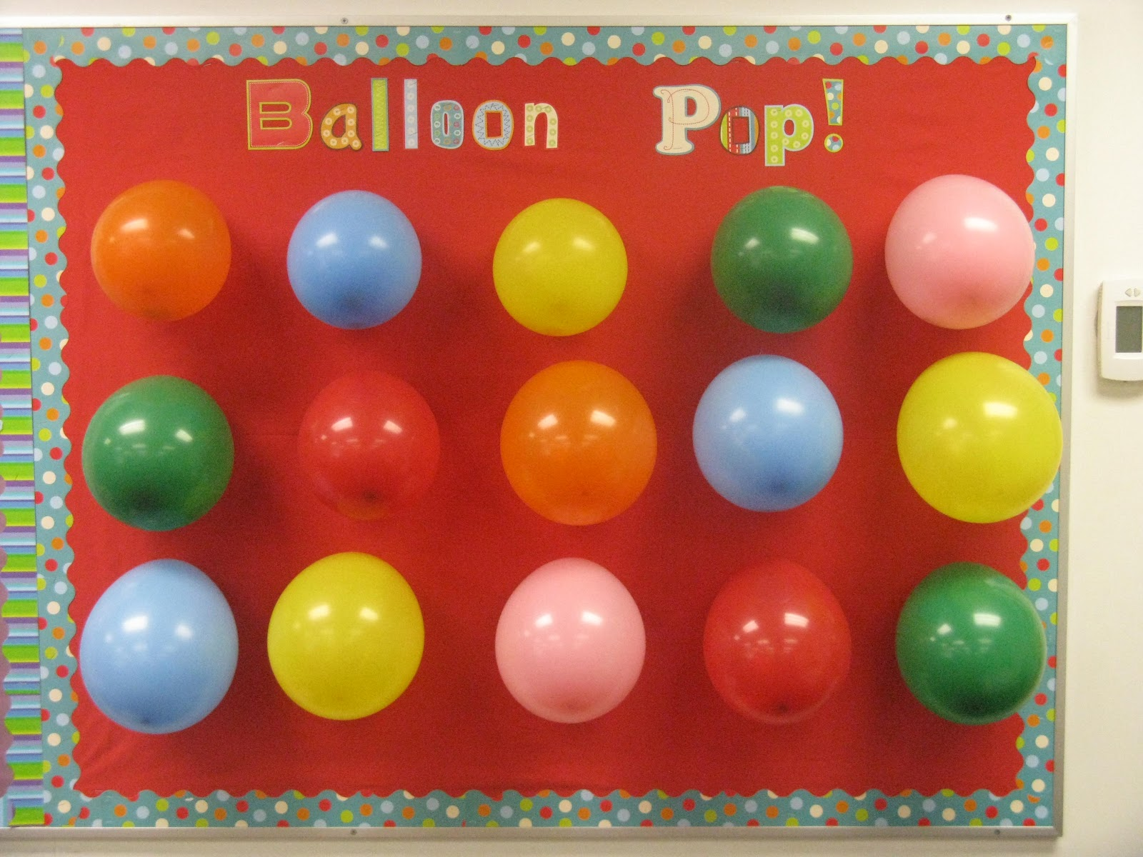 Ballon Pop bulletin board