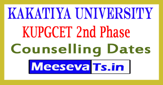 KUPGCET 2nd Phase Counselling Dates 2018