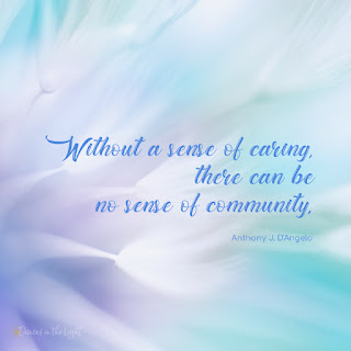 Without a sense of caring there can be no sense of community