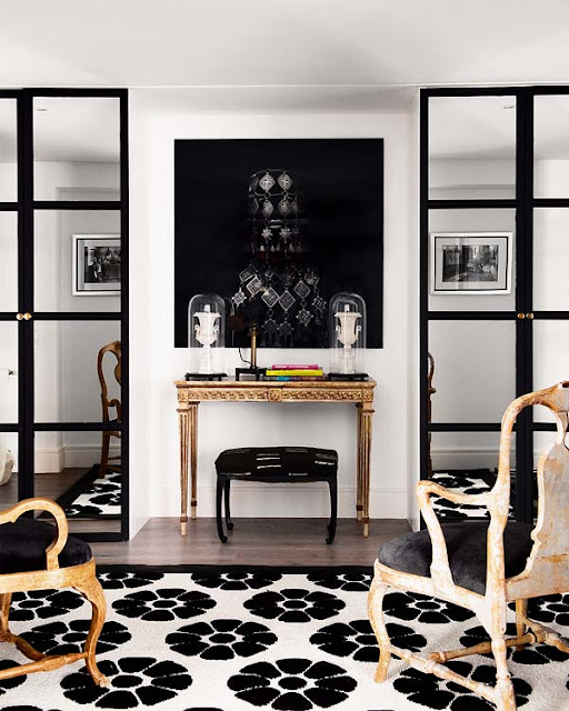 Noir blanc un style for Black n white living room